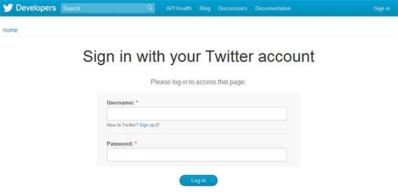 Twitter アカウントでログイン