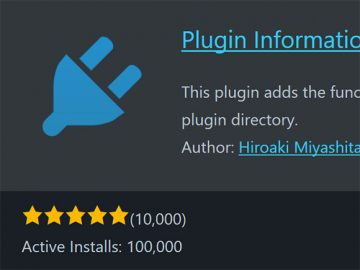 Plugin Information Card